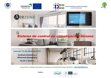 Conferencia Online 15 abril 2021:     Sistemas de Control para la Climatización Airzone