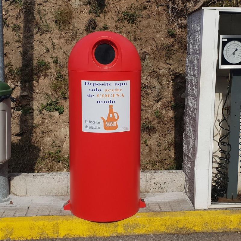 Bidón de reciclaje de aceite