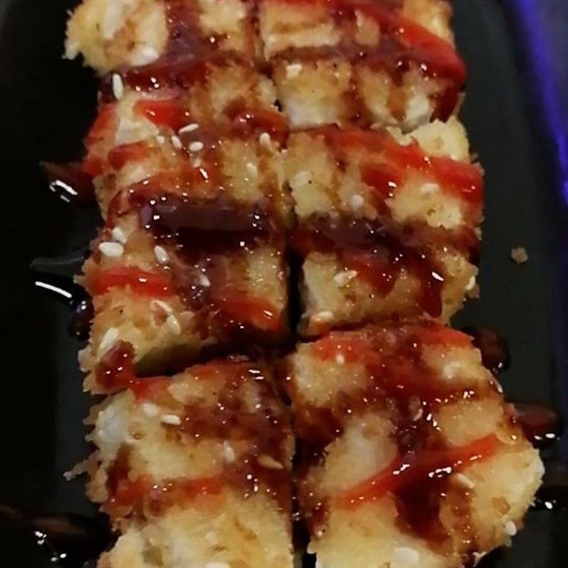 57.Tofu rebozada con salsa teriyaki y picante: Carta y menús de Yoshino