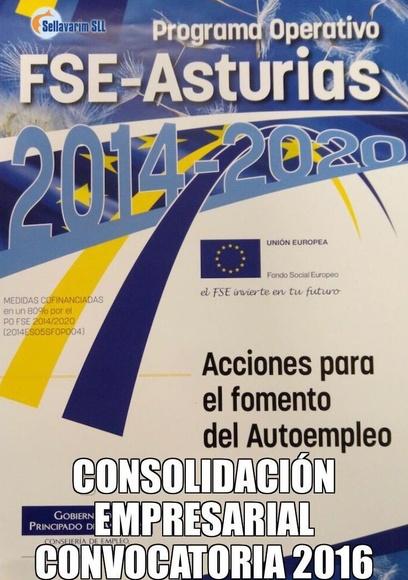 Consolidación empresarial convocatoria 2016  - Asturias