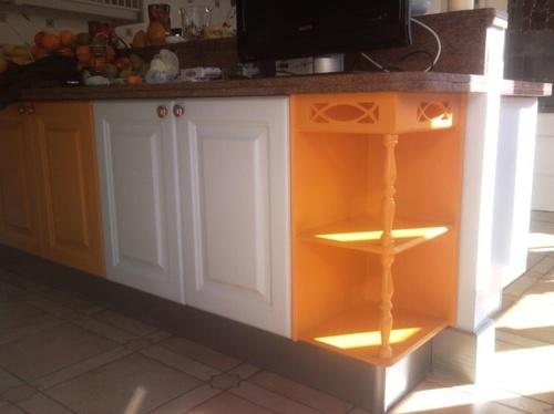 Lacado de viejos armarios de cocina