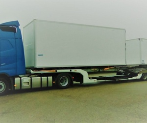 Transporte de 2 cajas frigorificas
