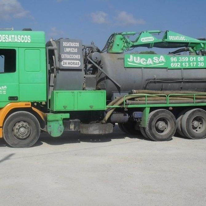 Tipos de camiones para desatascar
