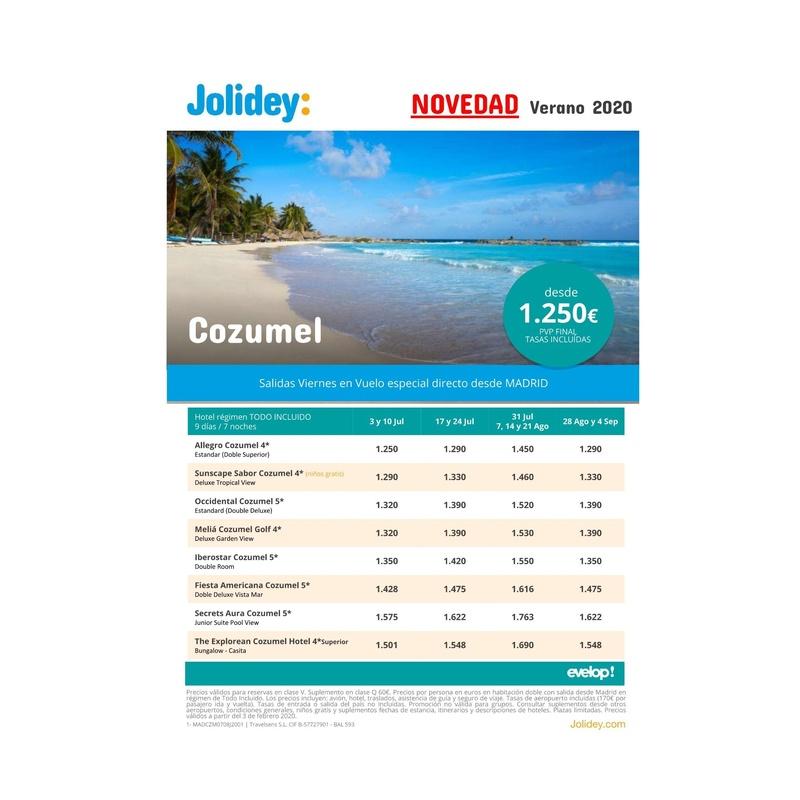 Novedad verano 2020 - Cozumel: Contrata tu viaje de Viajes Iberplaya