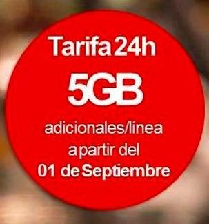 Vodafone te da 5 Gbs adicionales por linea