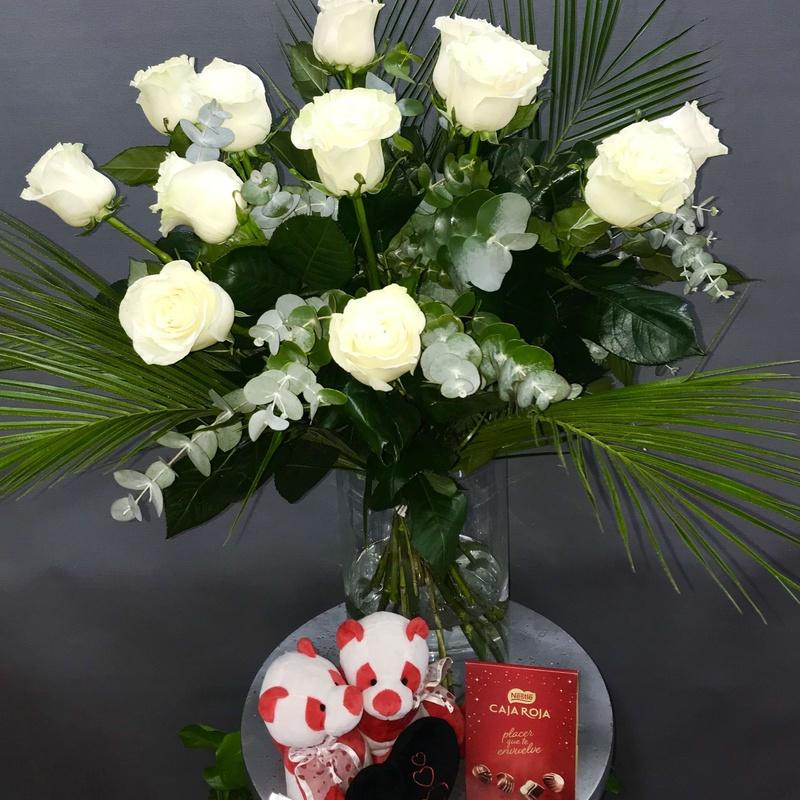 12 rosas blancas : Productos de Flores Madrid