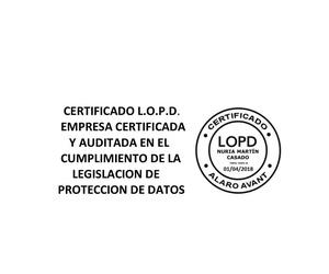Certificado L.O.P.D.