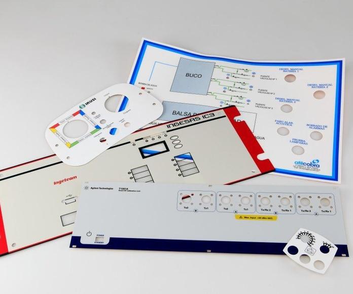 Carátulas de poliéster o policarbonato: Rotulación y señalización de Marcajes Tellería