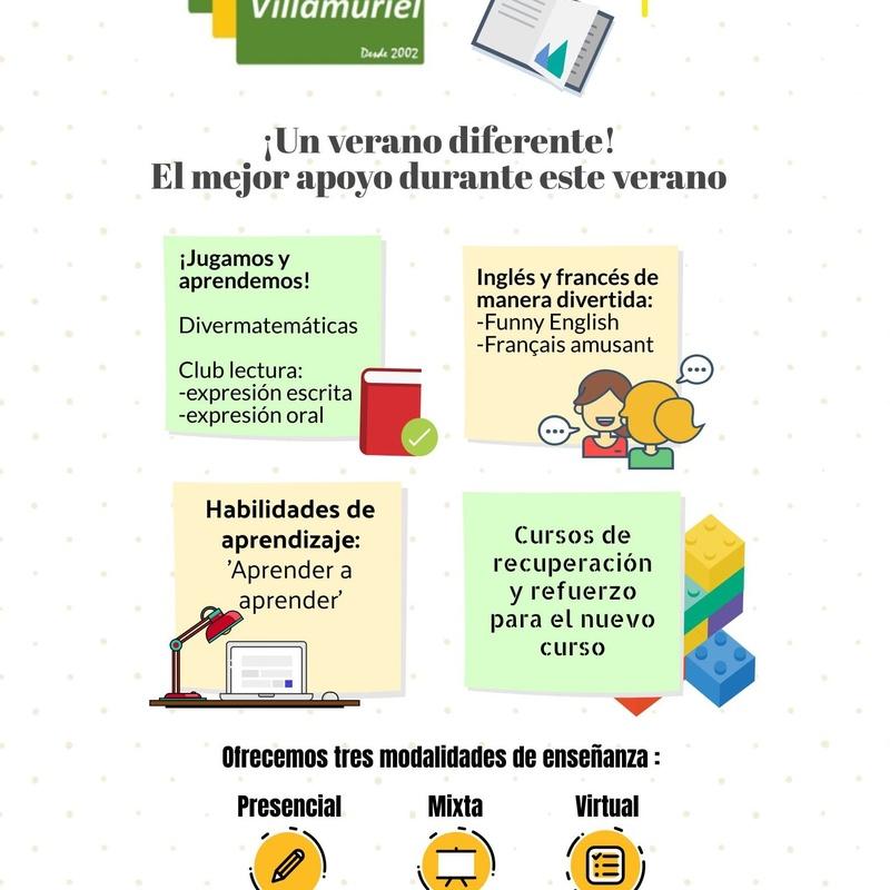 Cursos de verano: Oferta educativa  de Centro de Estudios Villamuriel