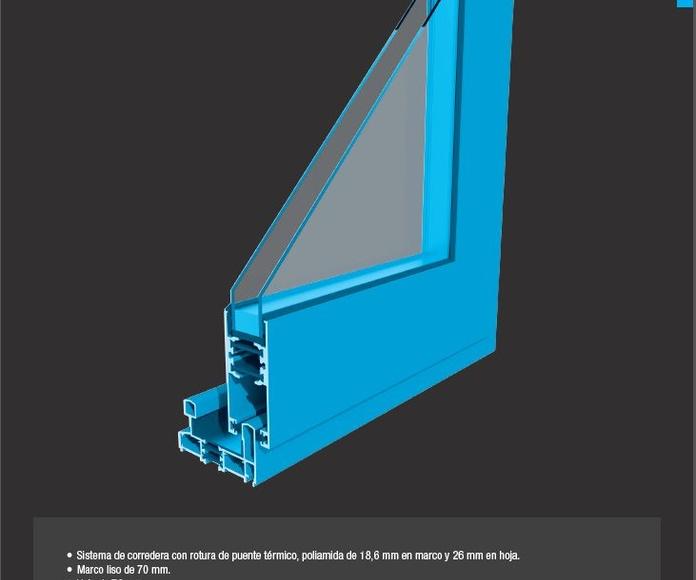 Corredera Aluminios Barcelona Alba Pros 70 RPT: Productos de Catal Pur