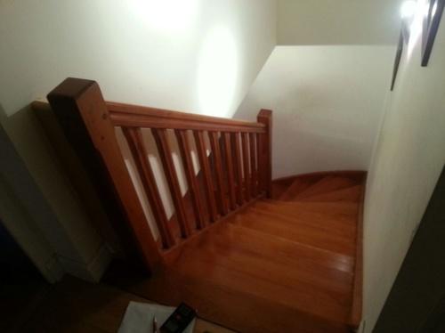 Decoración y lacado de escaleras antes