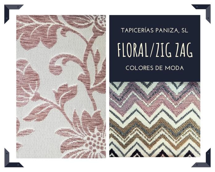 TAPIZADO FLORAL Y ZIG-ZAG