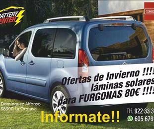 Láminas de protección solar para furgonas