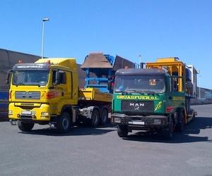 Transporte con maquinaria en Fuerteventura