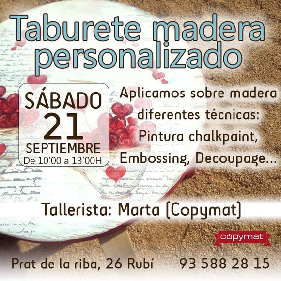 Talleres chalkpaint, embossing, decoupage...septiembre