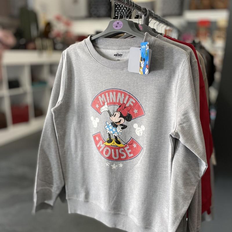 Sudadera de Minnie, tallas S/M/L/XL, precio 27€