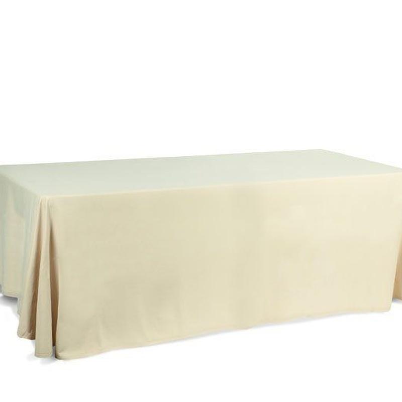Mantel rectangular crema: Alquiler de Mantelería & Menaje