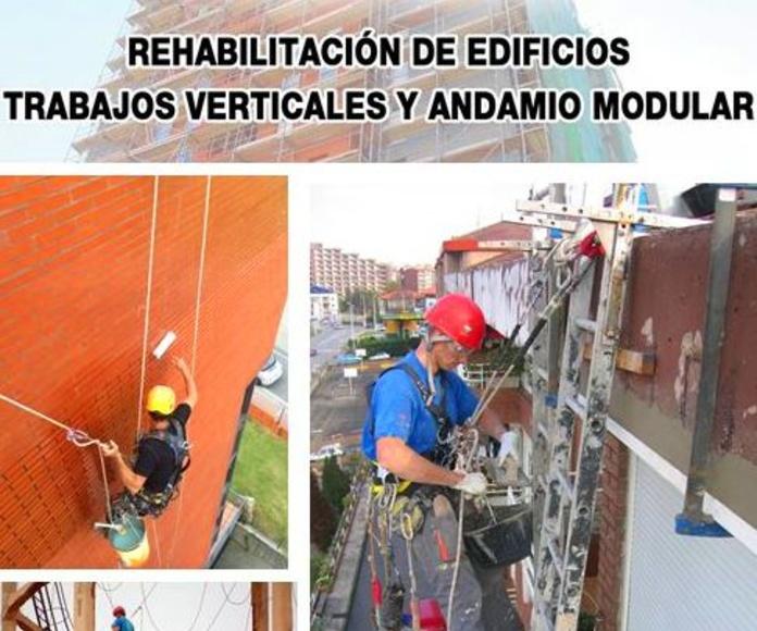 Trabajos verticales Santander-Cantabria. Reforma y mantenimiento de fachadas.