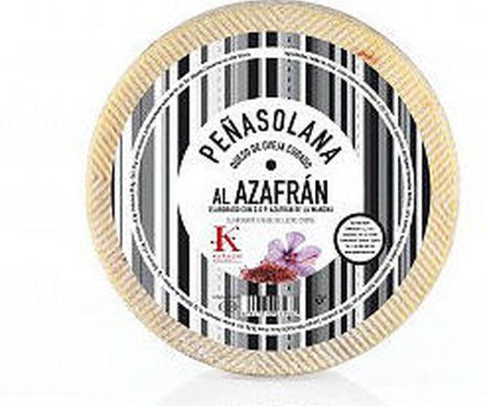 Queso de oveja Peñasolana curado al azafrán D.O.P la mancha Zamorano 2.800 : Productos de El Racó del Bierzo
