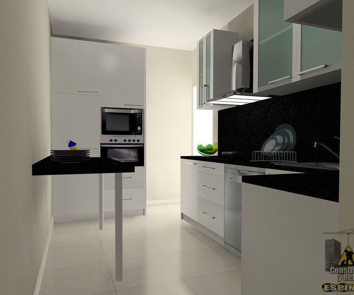 Presentación 3D de cocina