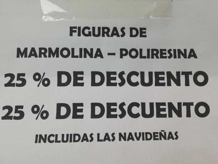 Figuras de Marmol / poliresina: Catálogo de Mercería y Manualidades Ángel y Feli