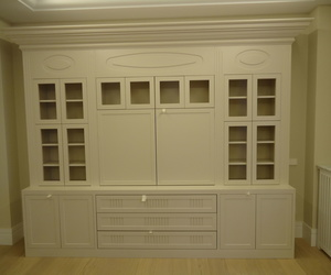 MUEBLE DE SALON EN DM LACADO BLANCO