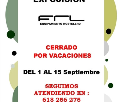 CIERRE POR VACACIONES DE LA EXPOSICION