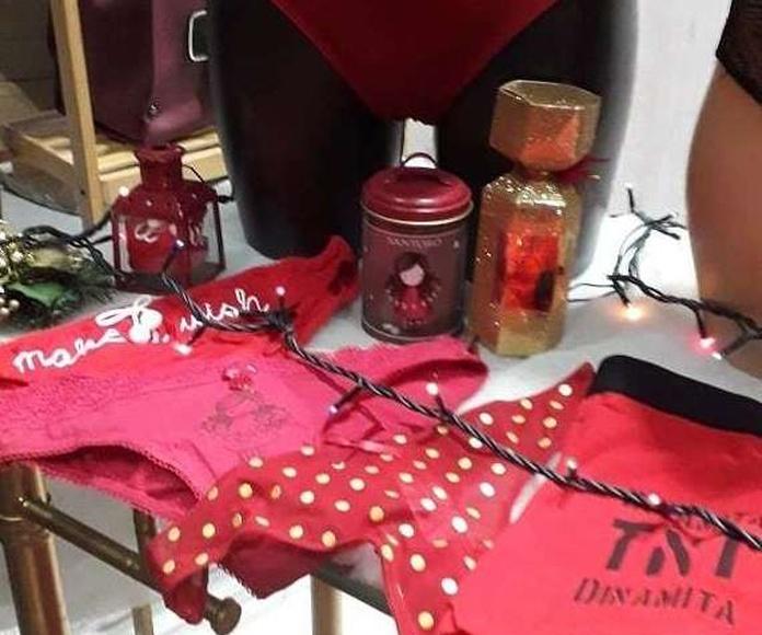 Ropa interior roja regalo navidad hombre y mujer