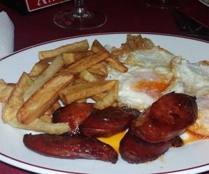 Chorizo, huevo y patatas