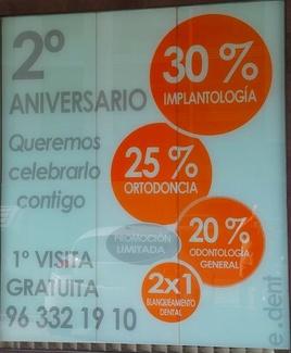 30% de descuento en IMPLANTES DENTALES en VALENCIA porque celebramos el 2º aniversario contigo