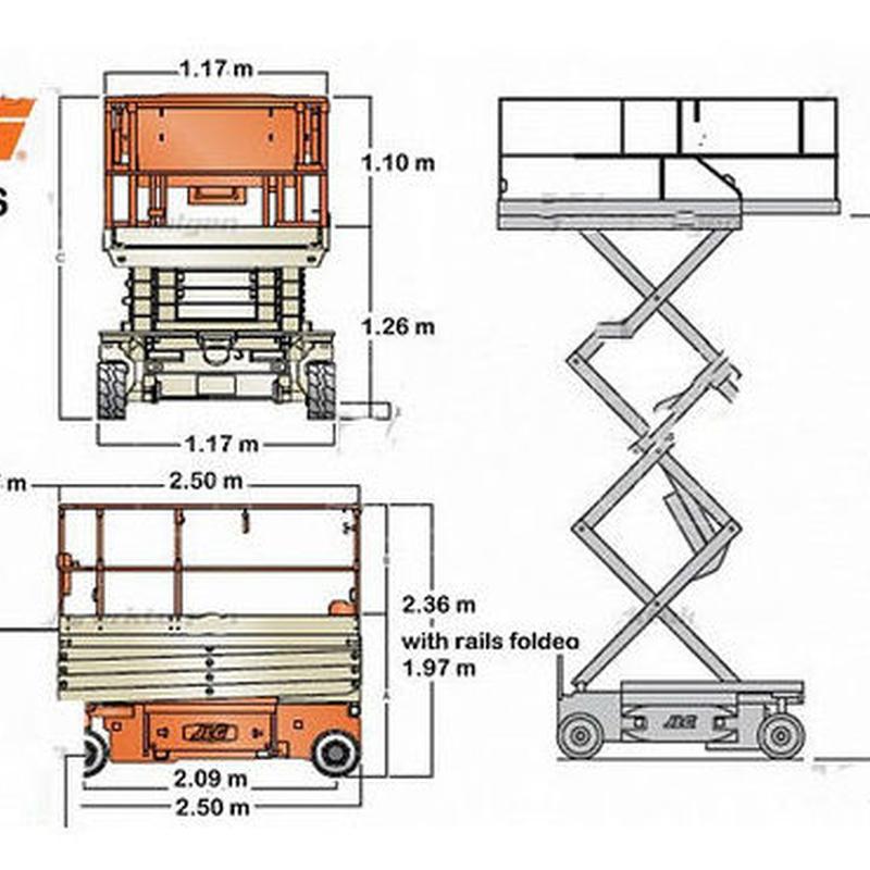 PLATAFORMA EN TIJERA ELECTRICAS DE 10 Y 12 MTS.: Catálogo de Eleva Rent