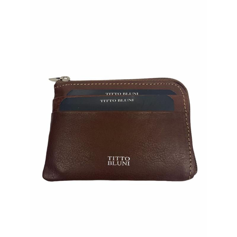 Tarjetero monedero de TITTO BLUNI, Piel, Ref. 602, Precio 14€