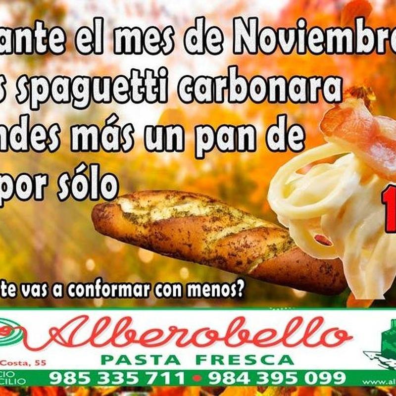 Promoción noviembre 2018: Nuestra carta de Alberobello