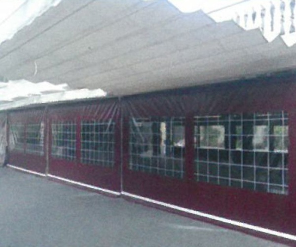Toldos telón con ventanas en Valencia