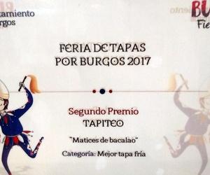 """""""Matices de bacalao"""", 2º premio a la mejor tapa fría en la feria de la tapa 2017"""