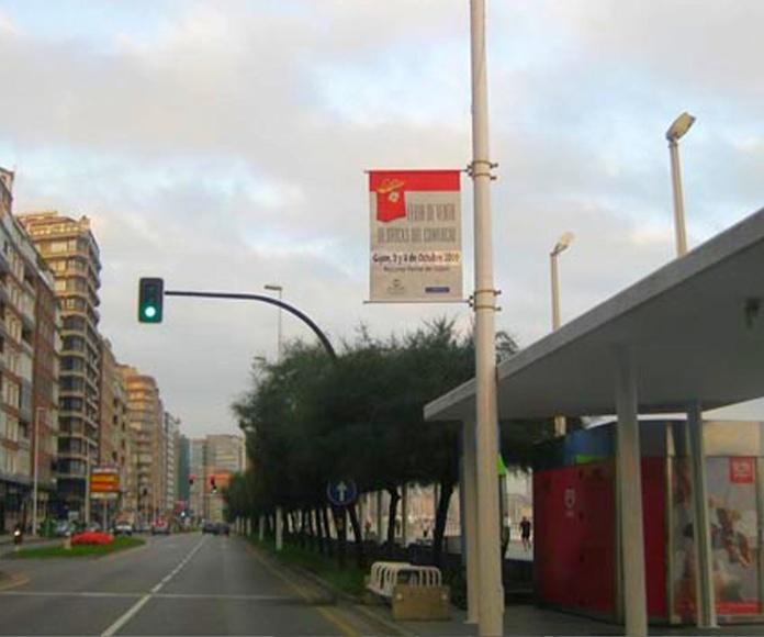 banderola simple. -  Gijón. Asturias