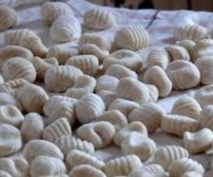 Gnocchi fresco relleno de gorgonzola y nueces