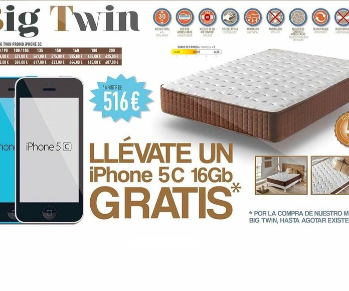COLCHON VISCO + IPHONE DE REGALO
