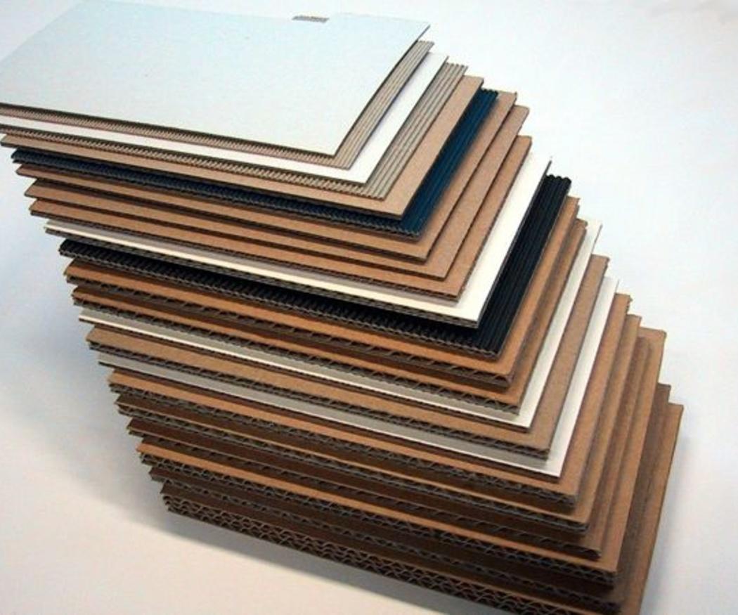 Algunas variedades de cartón con las que trabajamos