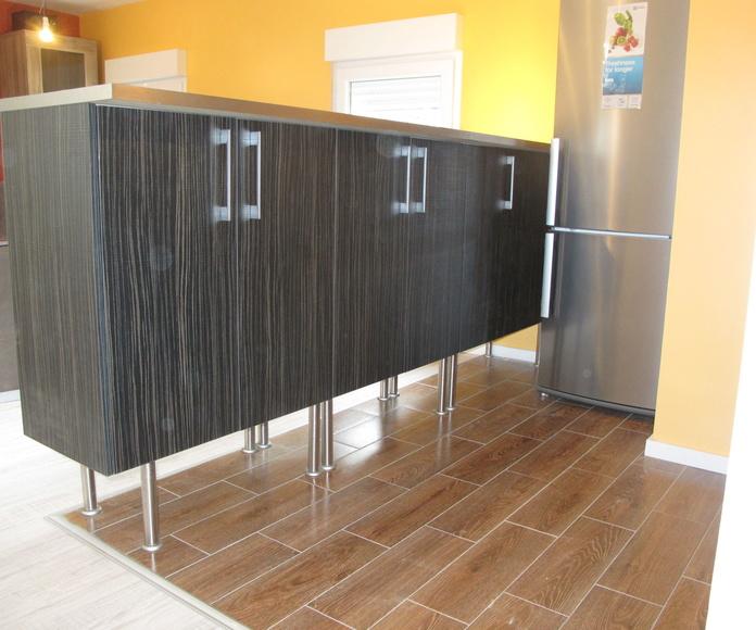 Cara interior volada 10 ctm para barra , altura elevada muebles bajos maxi