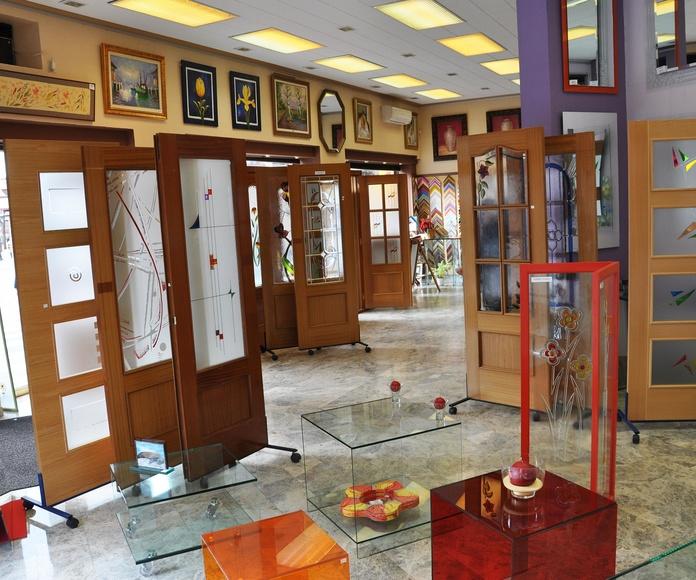 Cristales para puertas. Cristaleria en Madrid