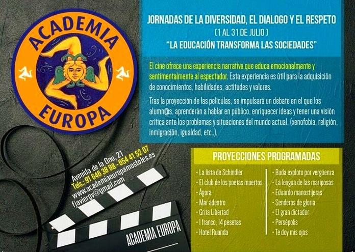 CURSO DE CINE Y DIALOGO JULIO 2018: Relación de cursos de Academia Europa
