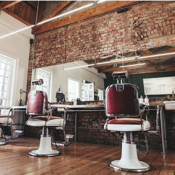 Un toque industrial para tu peluquería