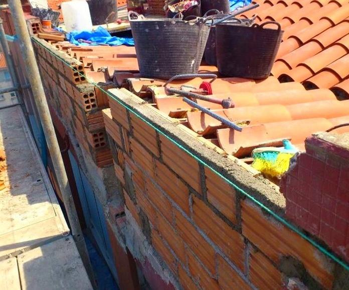 Trabajos de albañilería y construcción reparación de muro y junta de dilatación
