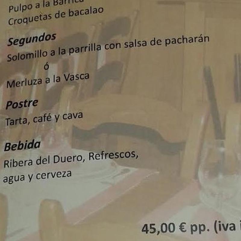 Menús Navidad y celebraciones: Servicios de Sidrería Restaurante La Barrica