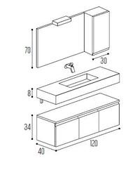 Mueble baño Kyryan Modular Complet C12