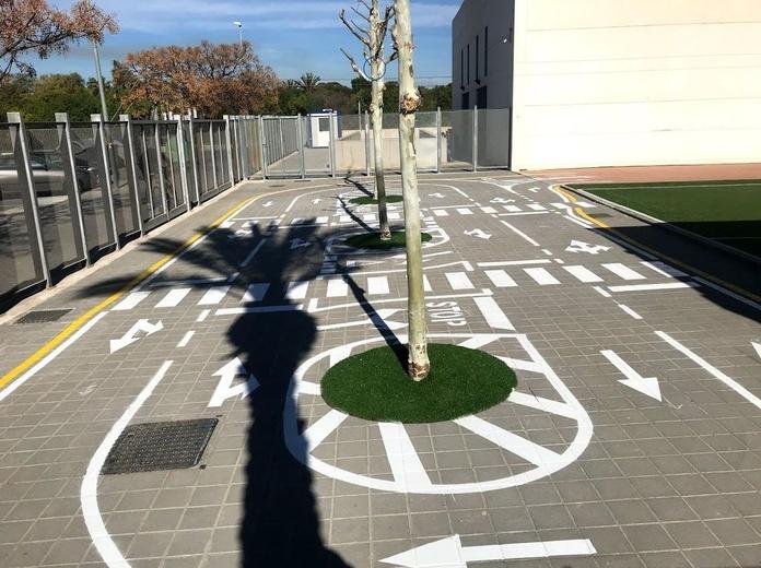 Pintura de circuito de educación vial. Alicante