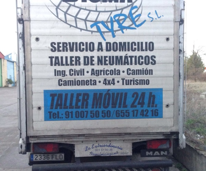 Taller móvil: Servicios de Dismatyre