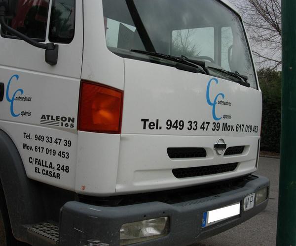 Camión para trasladar escombros
