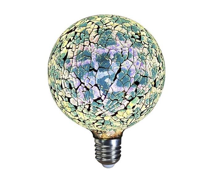 LAMPARA DECORATIVA  LED GLOBO TIFFANY E27 4W 360º 230V AZUL